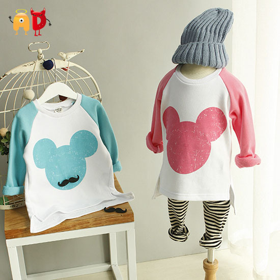 Ad cute mickey children t shirt cotton fabric spring boys for Cotton fabric for children s clothes