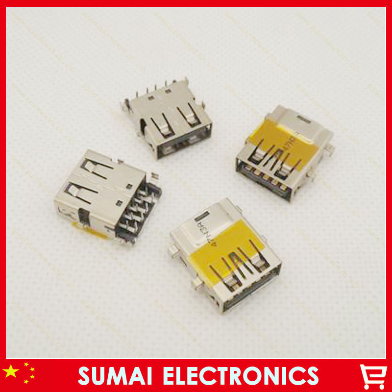 200pcs/lot Original New Laptop 3.0 USB Port Jack Connector  for HP ACER SAMSUNG DELL SONY TOSHIBA etc Four Fix Foot Copper up<br><br>Aliexpress