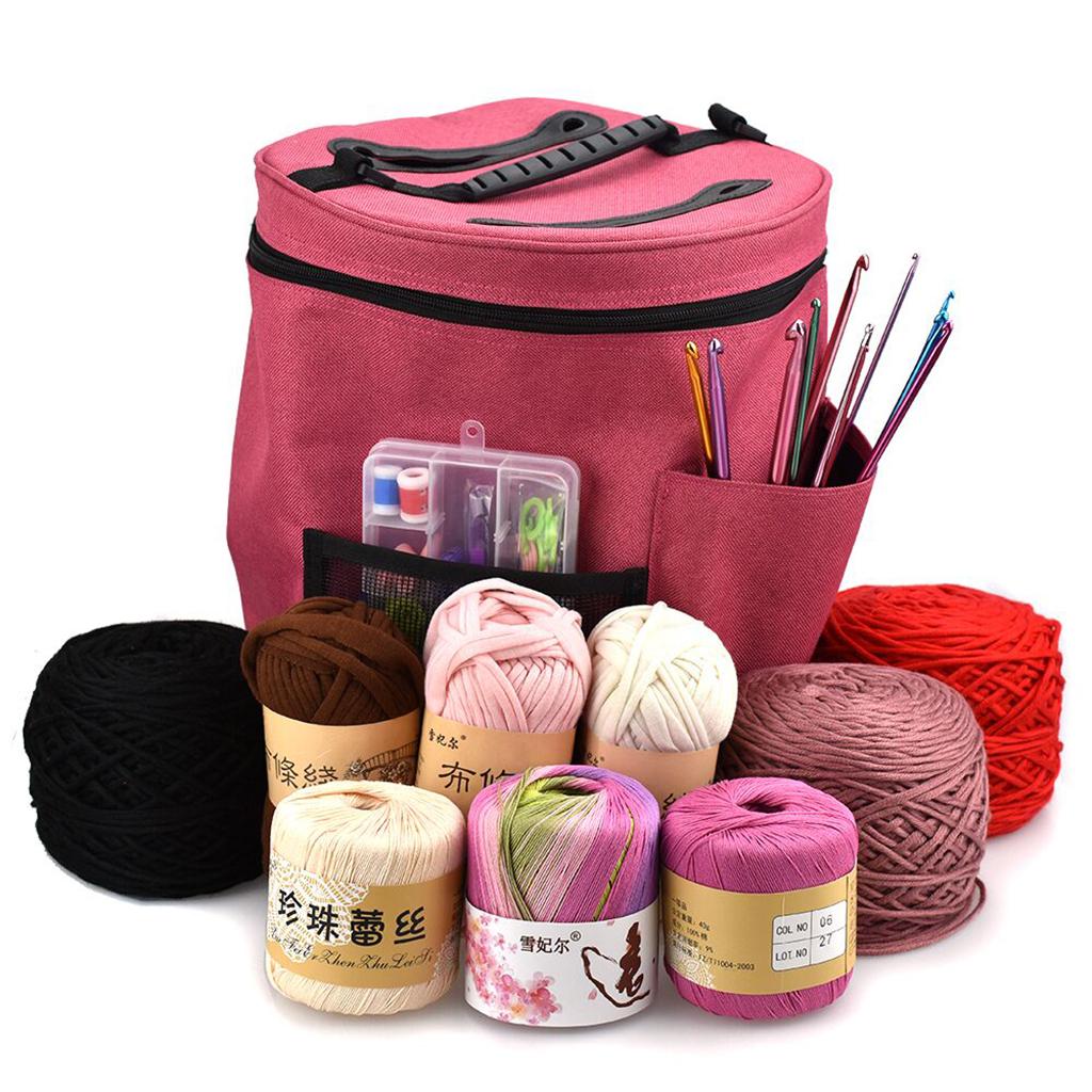 3Pcs Yarn Storage Knitting Yarn Bag Tote Bag Big Capacity Organizer Tote for Weave Tools Crochet Accessories Storage Case