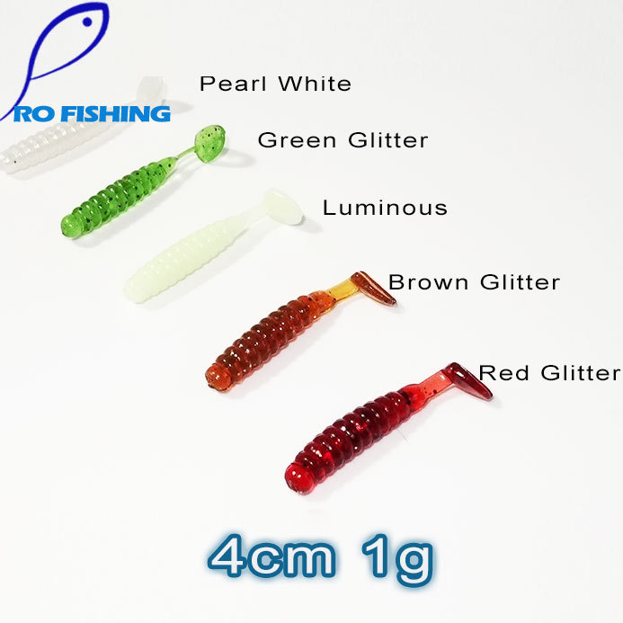 Pesca Artificial Lure 50pcs 4cm 1g for Japan Shad Carp Fishing Worms Swimbaits Soft Lure For Fly Fishing Bait Fishing Lure(China (Mainland))