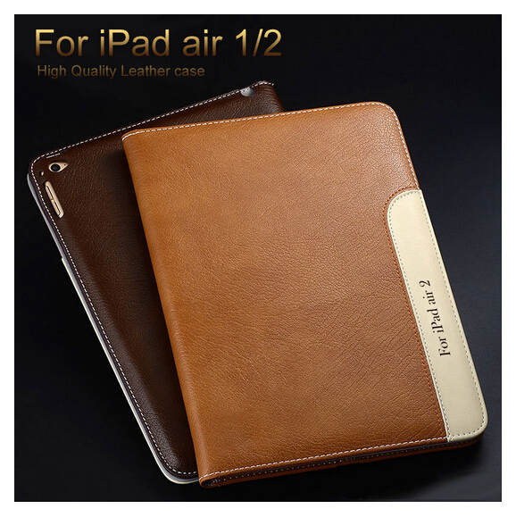 2015 New 10 Color Fashion Design Travel PU Leather Flip Cover For Apple iPad Air 1 2 Case with Wallet Pocket and Card Holder(China (Mainland))