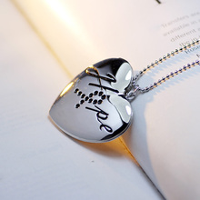 Hot Sale Open Heart Letter Pocket Watch Pendants For Photos Fashion Necklaces Jewelry For Women A70(China (Mainland))