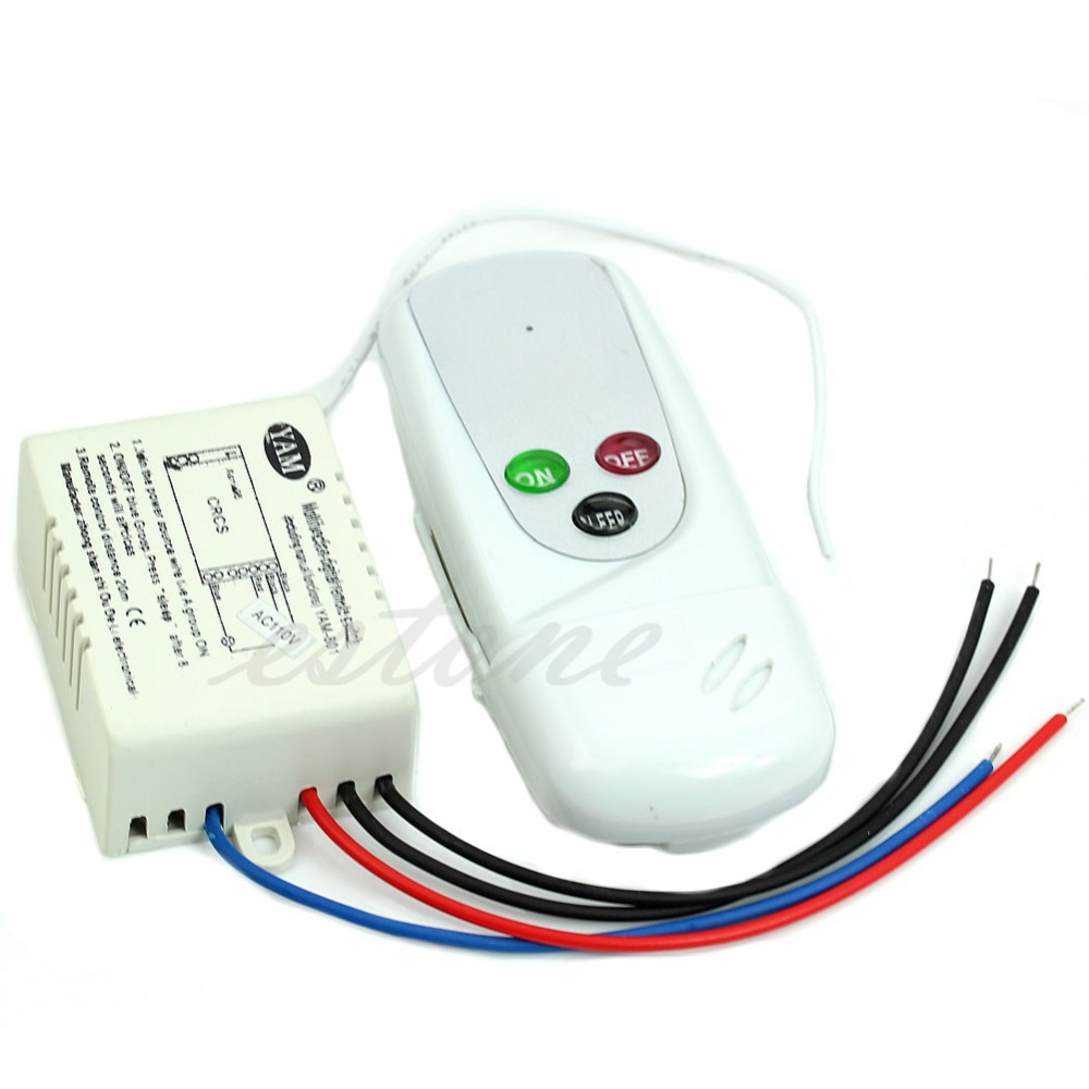 Free Shipping 1PC Wireless 1Way Light Lamp Remote Control Switch ON/OFF 110V Anti-interference<br><br>Aliexpress