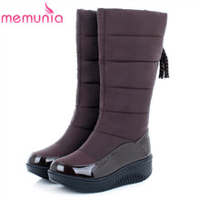 MEMUNIA Low price ! Plus size 35-44 new snow boots for women platform tassel slip on keep warm winter women knee high boots(China (Mainland))