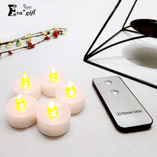 Smokeless Flameless Flash night light tea lamp/Romantic remote control led candle with remote Weding Party Christmas Decor(China (Mainland))