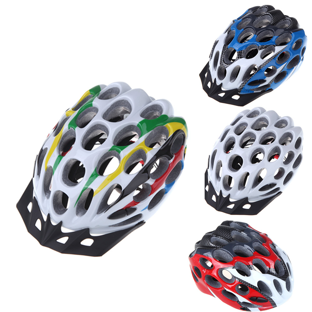 2014 New 41 Vents Road MTB Race Hero Mountain Bike Bicycle Cycling Safety Helmet with Visor 205g Adult White/Blue/Red/Colorful(China (Mainland))