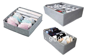 Free shipping 3 pieces a set,foldable box /Bamboo Charcoal fibre Storage Box ,Storage cases for bra,underwear,necktie,socks