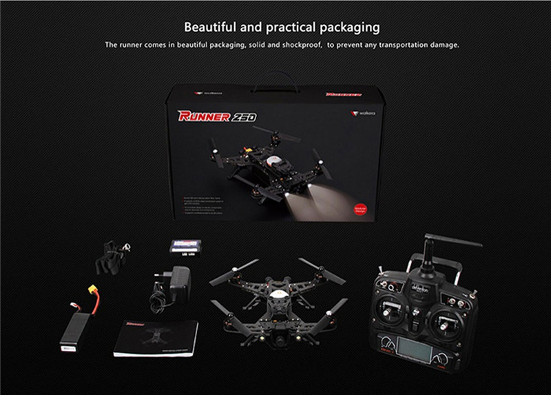 Walkera Runner 250 BNF RTF FPV RC drone helicopter quadcopter Charger Camera DEVO 7 Image Transmission