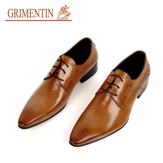 Grimentin мода итальянский мужские туфли оксфорд черный коричневый 2016 старинных ...