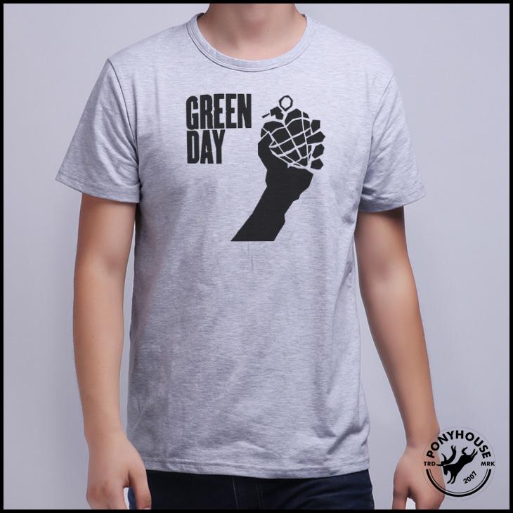 Гаджет  2015 h tshirt loose CSR LSN IC band GREEN DAY LOGO t-shirts men with short sleeves None Изготовление под заказ