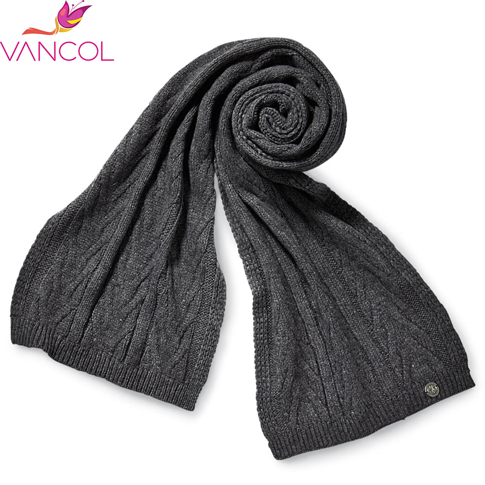 Cheap Hot Brand Knitted Scarf Women Winter Ladies Scarves 2016 Warm Knitted Scarf Wool Long Black Cashmere Scarf for Women(China (Mainland))