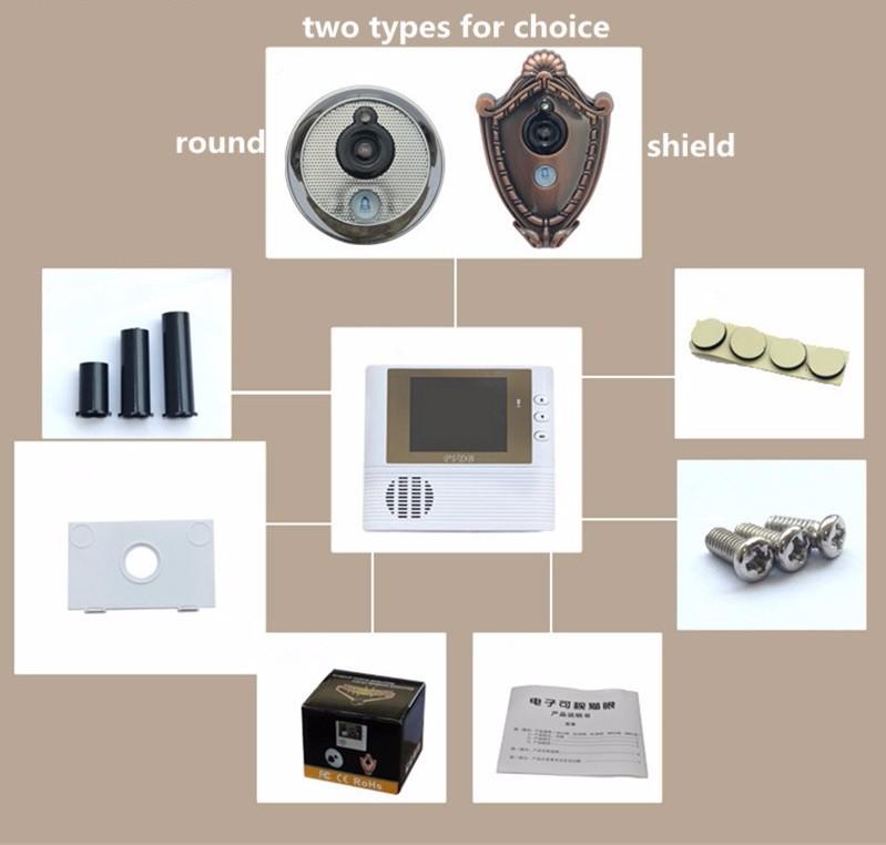 Видео глаз кольцо дверной звонок камера беспроводной глазок 2 8 дюймов TFT lcd 3X зум 10.0