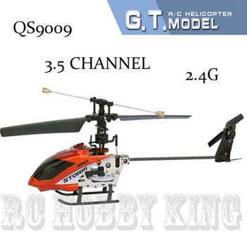 QS9009 Newest Single Blade 27.5cm 3.5Ch rc Helicopter radio remote control toys RTF ready to fly rc toys QS 9009