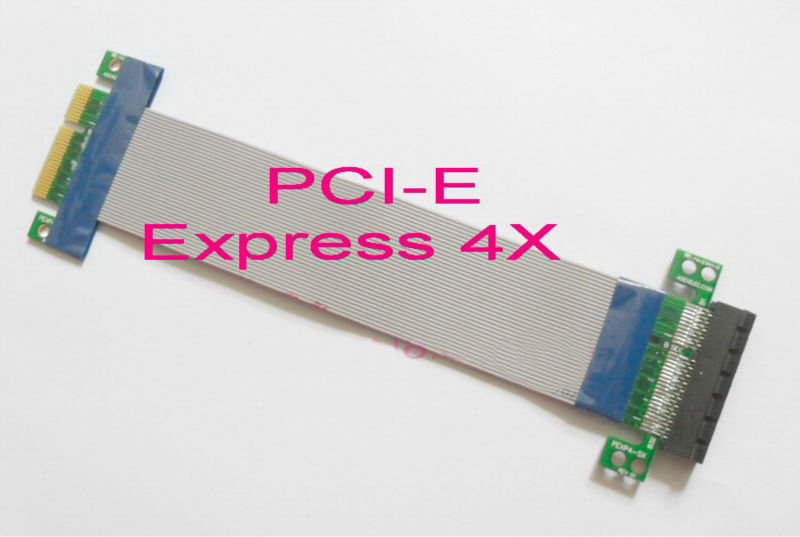 100PCS---Brand NEW 4x PC PCI Expres PCI E Riser Card Extender Extension Ribbon Flex Relocate Cable<br><br>Aliexpress