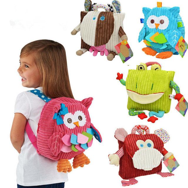 5 фирменный стиль дети рюкзак сумка детский сад девушки парни милые игрушки мультфильм ребенок школьные сумки сова животных рюкзак