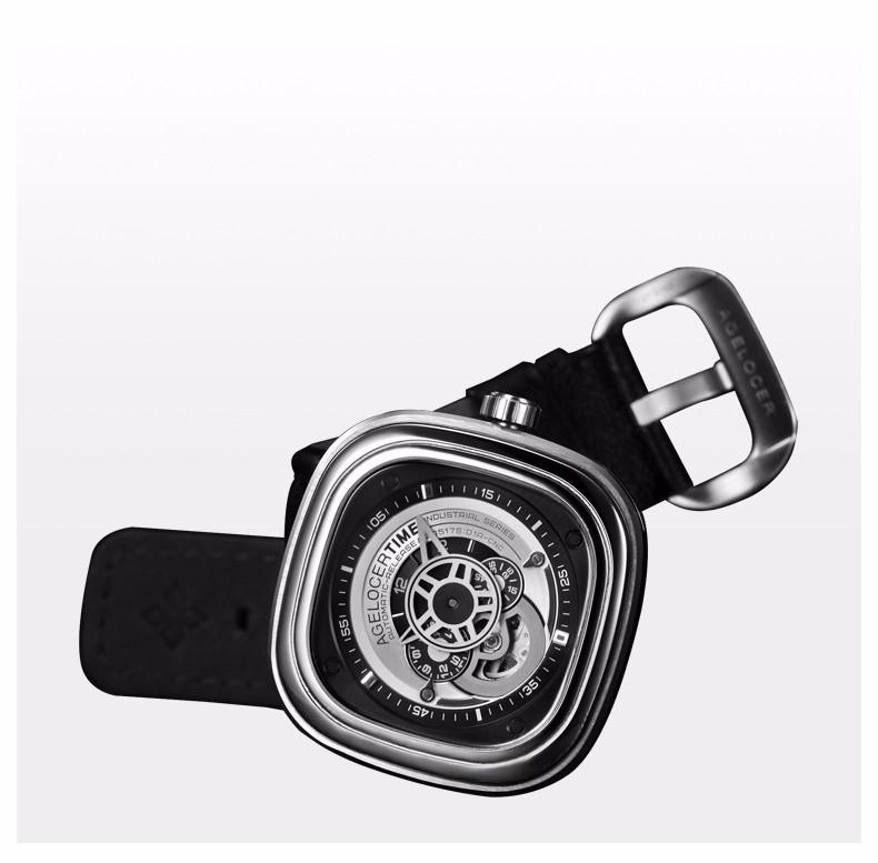 Agelocer Марка Relogio Masculino Часы 100% Коровьей Ремешок Для Часов Спорт Наручные Часы Мужчины Из Нержавеющей Стали Водонепроницаемый 50 М