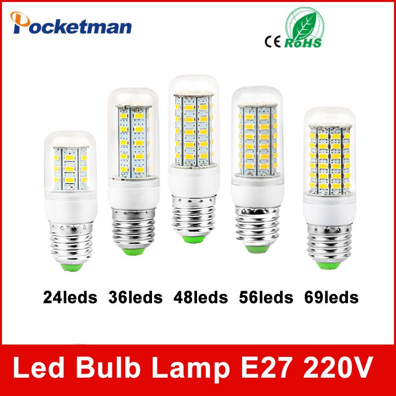 High Power 220V Christmas Lights SMD5730 Led Lamp Warm White/ White,24 36 48 56 69LEDs Lampada Led Bulb E27 E14 Co., Ltd.)