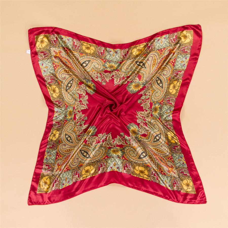 2015 Summer Style Big Size 90x90cm Silk Square Scarves Women Fashion Brand High Quality Imitated Silk Satin Scarf Shawl Hijab(China (Mainland))