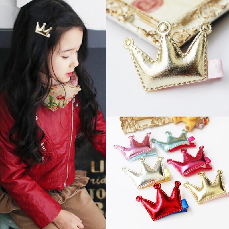 30pcs Cute Kids Girls Princess Crown hair Accessories Headband Hair Wear Hair Clips Ribbon Headdress 6 Colors Free Shipping(China (Mainland))