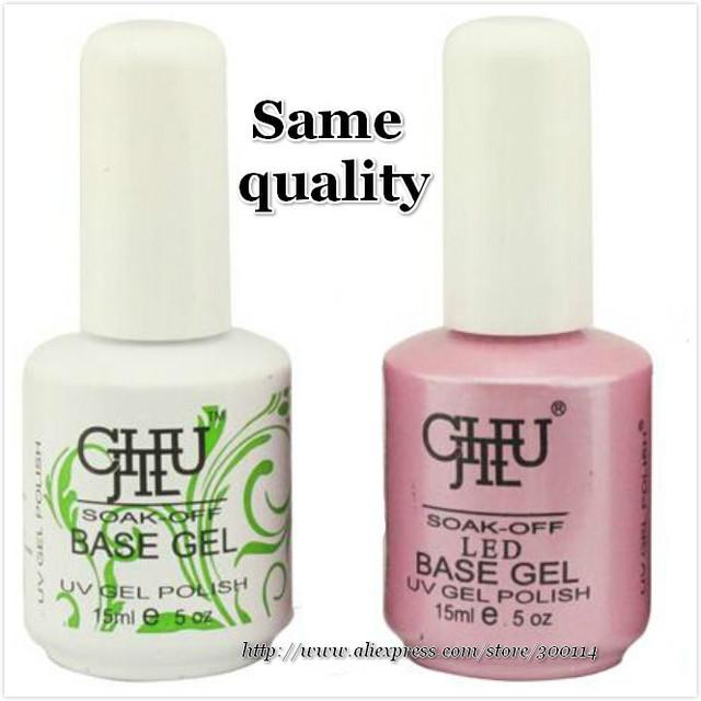 wholesale original chujie nail art uv gel polish base gel 15ml gel partner base coat Soak Off Gel Polish 6pcs/lot free shipping