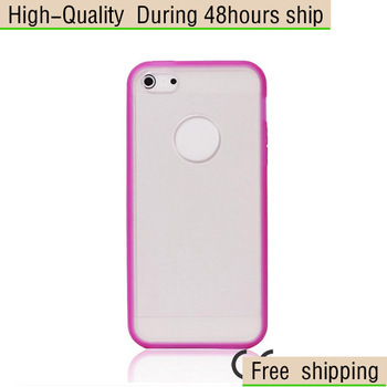 New TPU Case Matte Clear Back Cover For Apple iphone 5 5G 5th Free Shipping UPS DHL CPAM GS-88