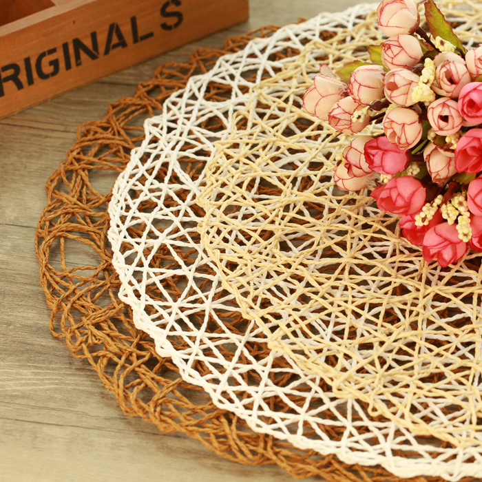 3 colors Hand Knitting Hollow Table Mat Paper cushion Photogrpahy props Photo studio background  for online professional seller<br><br>Aliexpress