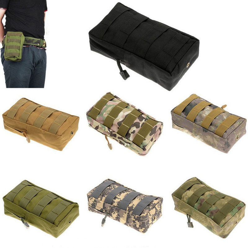 7 Color Outdoor Tactical Military Nylon Army Fans Camo Magazine Pouch Bag Waist Bag Pouch Case(China (Mainland))