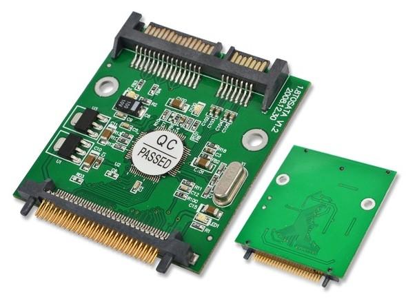 """50pin 1.8 micro IDE CF to SATA 22 Pin Adapter Compact Flash Type I/II 50pin to 2.5"""" 7+15 Pin SATA SSD HDD Converter Card(China (Mainland))"""