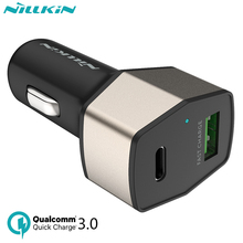 Buy Nillkin USB Car Charger 33W 2-Port Quick Charge QC 3.0 USB Type-C Car Charger Fast Charging for Samsung S7 xiaomi mi5s charger for $16.00 in AliExpress store