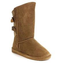 Mujeres de gamuza dedo del pie redondo bajo talón plano de piel de oveja plantilla de punto clásica volver invierno mitad de la pantorrilla botas zapatos de la nieve(China (Mainland))