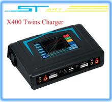 Original Imax RC X400 Twins Released New Touch Screen 400W Powerful Balance Charger Discharger for Helicopter Free classic toy