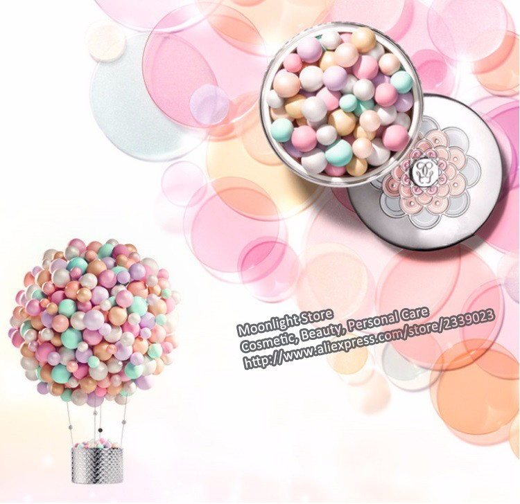 2016 New Arrival Brand Powder Ball Meteorites Poudre Visage Pearls Powder Face Makeup Foundation Highlight Loose Powder 3 Color