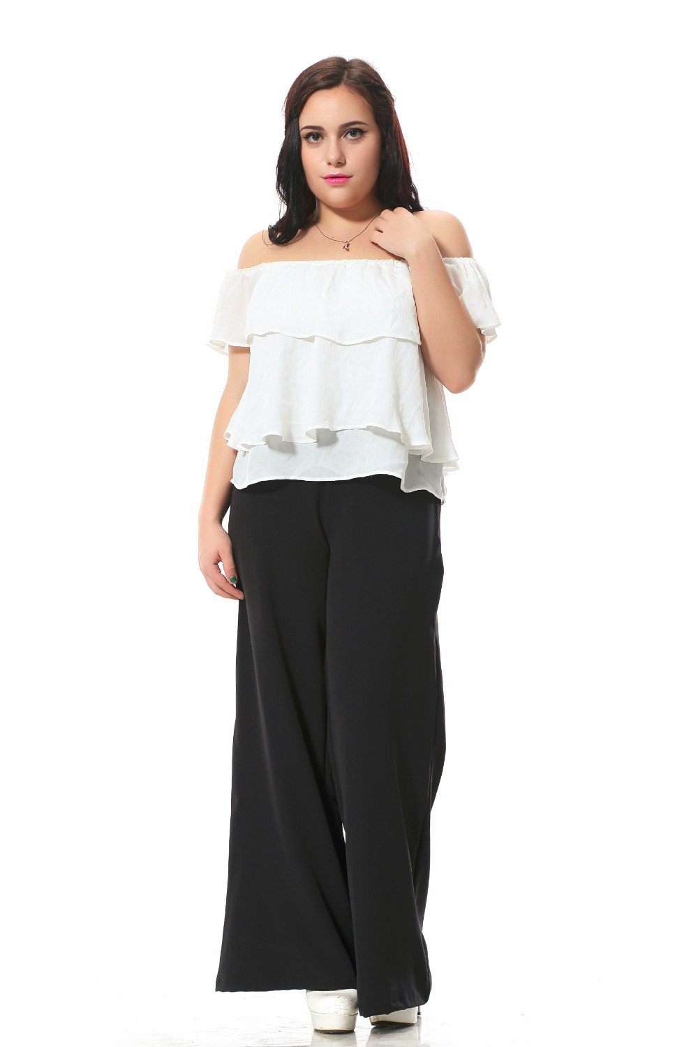 Wide Leg Work Pants - White Pants 2016