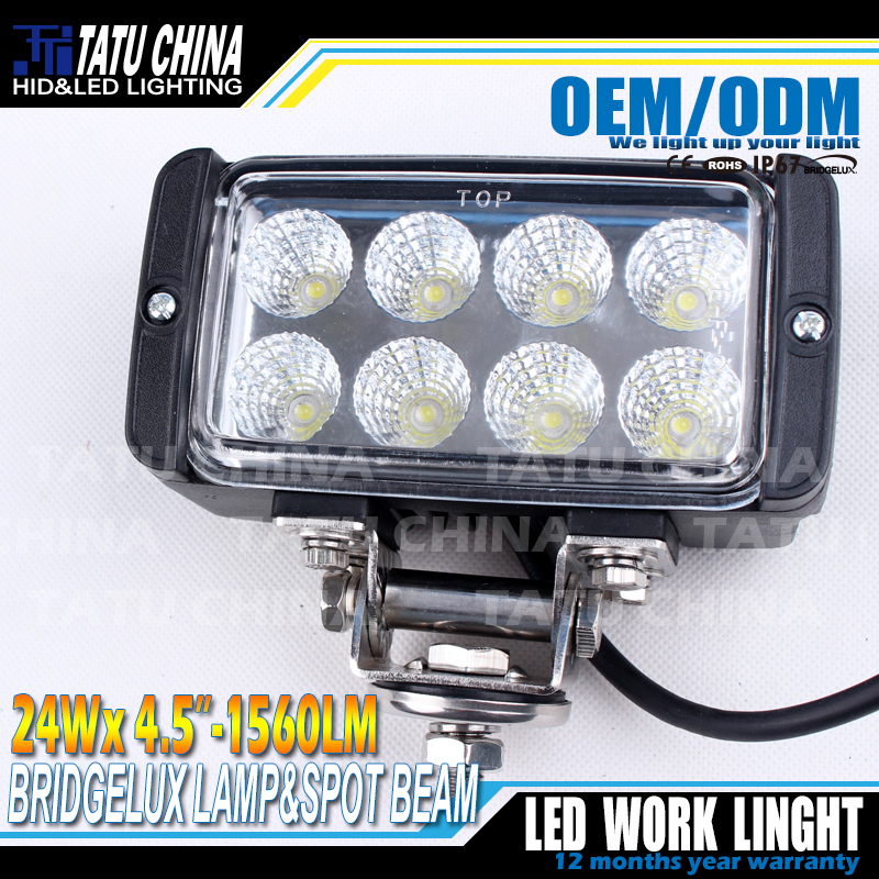 24W Led work light Spot bar Auto Car truck headlight Offroad ATV SUV Tractor Tank Forklift worklight Fog lamp - TATU Technology Co., Ltd. store