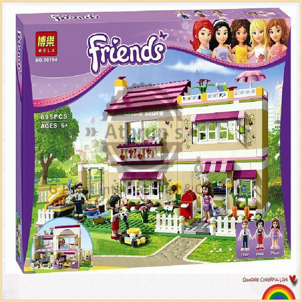 Bela 10164 Girl friends 695pcs Olivers House and minifigures Oliver/Peter/Anna figures building block sets Compatible With Lego<br><br>Aliexpress