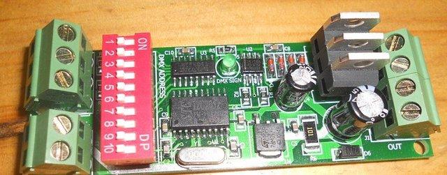 3 channel Easy DMX LED controller;dmx decoder& driver