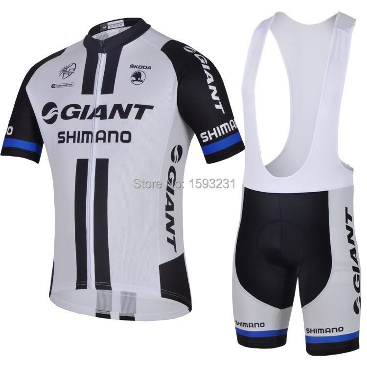 2015New BT-00 Giant White Short Sleeve Cycling jersey bicycle bike wear shirt & bibs shorts or Shorts Size S~XXXL Free shipping(China (Mainland))