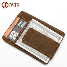 Buy JOYIR Genuine Leather Credit Card Holder Card Wallet Purse Id cardholder Wallet Women Men Business Card Pouch Cover K023 New for $18.38 in AliExpress store