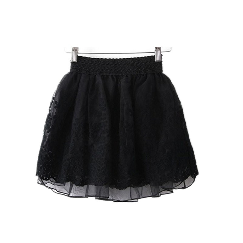 2016 mini skirt women sexy lace summer girls ball skater
