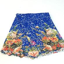 Livraison gratuite nouvelle arrivée africaine dentelle tissus de haute qualité multi couleur cordon dentelle guipure dentelle tissu pour femmes robe SML1641-c(China (Mainland))