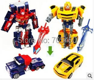 2015 Hot sale New Boy Gift Action Toy Figures 16 cm Bumblebee optimus Movie Robot Car prime Transformation Robot Model Class(China (Mainland))