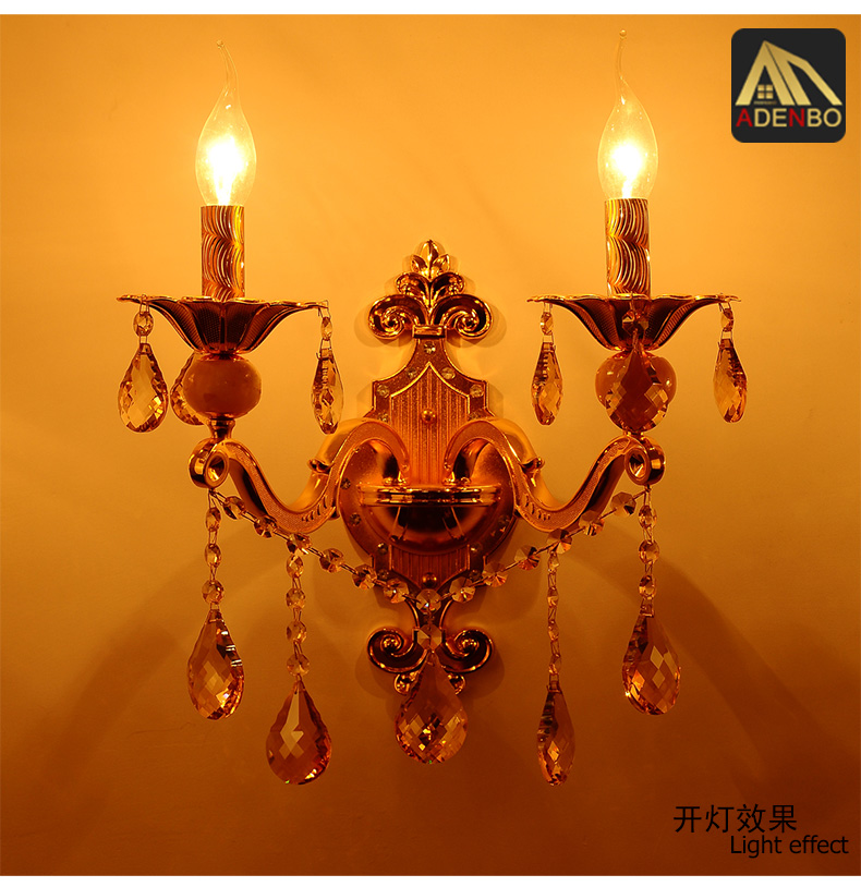 Free Shipping Modern Gold Alloy LED Crystal Wall Sconce Lamps With 1 Arm 2 Arms And For Corridor And Bedroom Lighting (968)<br><br>Aliexpress