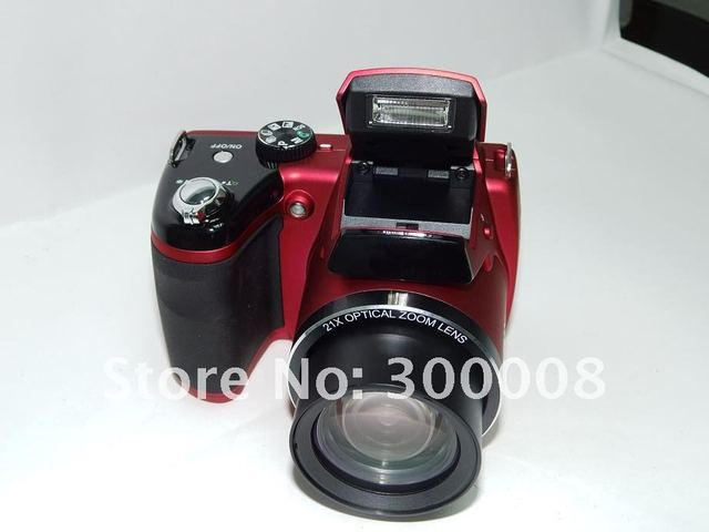 "Free shipping cameras  with 16mp sensor and 21x optical zoom,3.0"" TFT LCD,professional and reliable"