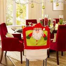 Christmas Decoration Seat Cover Santa Snowman Elk Hat Dinner Chair Covers XMAS Gift Christmas Products Supplies YL873689(China (Mainland))