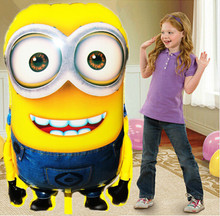 92*65cm Big Size Minions Balloons ball Classic Toys Christmas Birthday Wedding Decoration Party inflatable air balloon(China (Mainland))