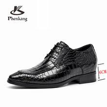 Мужские официальные туфли из натуральной кожи; Оксфорды для мужчин; Черные, красные модельные туфли; Свадебные туфли; Кожаные броги на шнурк...(China)