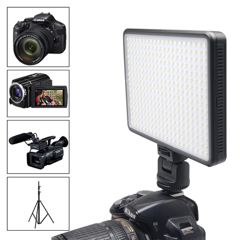 Фотография Mcoplus LED-320 LED Video Light 28W Professional Photography lighting for Canon Nikon DSLR & Camera charge mobile phone ipad