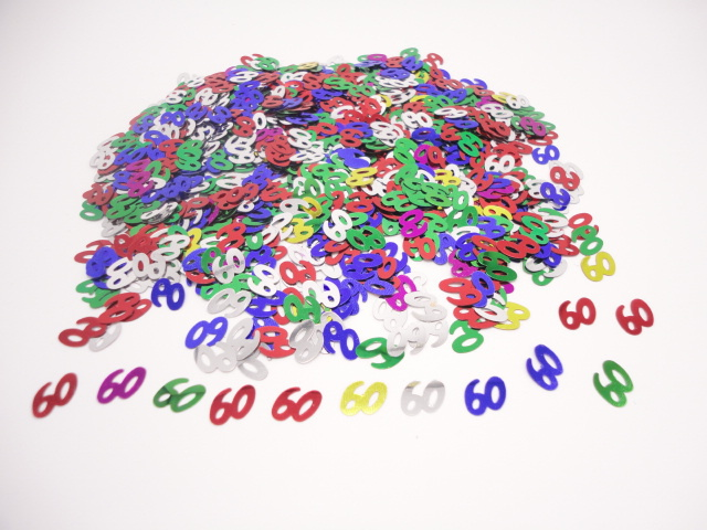 50g The Hill aged 60th Birthday Table Decor numbers 13mm 60 confetti sprinkles supplies(China (Mainland))