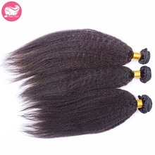 Chinese Kinky Straight Human Hair Bundles 3pcs Lot 7A Unprocessed Chinese Hair Weft Extensions Coarse Yaki Chinese Hair Weaves(China (Mainland))