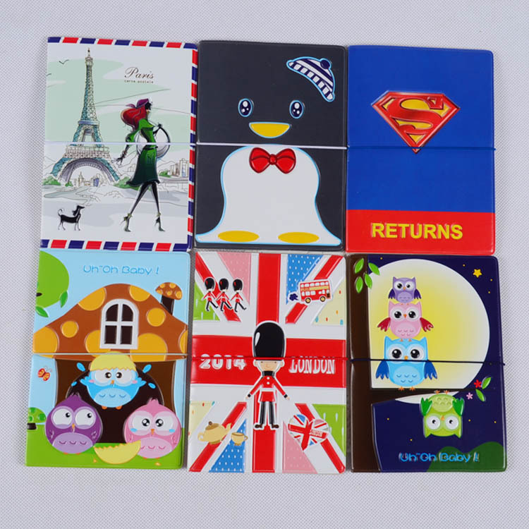 New Cartoon cute funda pasaporte leather passport holder vs passport cover id holders documents bag card case Travel Accessories<br><br>Aliexpress